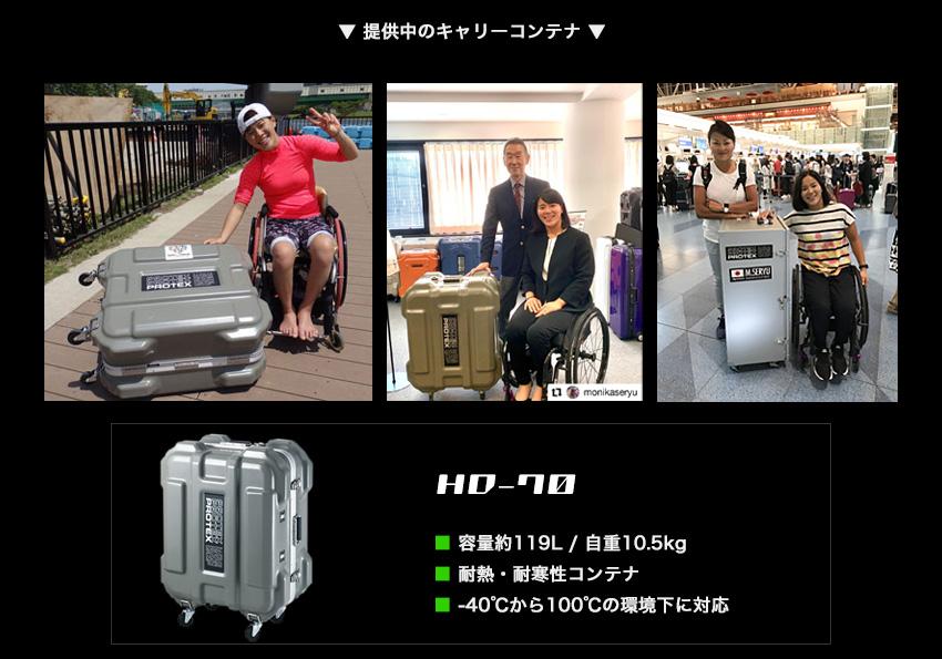 瀬立モニカ選手に提供中のHD-70